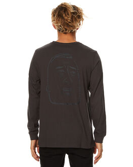 PIRATE BLACK MENS CLOTHING RVCA TEES - R174092PBLK
