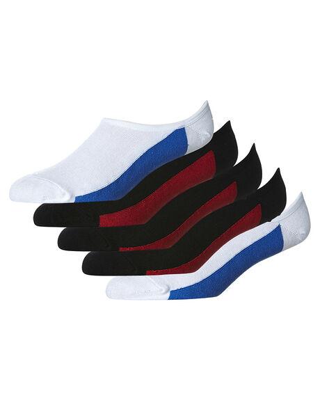 BLACK WHITE MENS CLOTHING GLOBE SOCKS + UNDERWEAR - GB71029048BKWHI