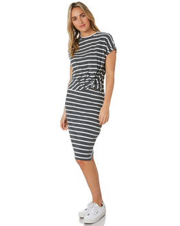 CHARCOA STRIPE WOMENS CLOTHING SILENT THEORY DRESSES - 6053043CHAR