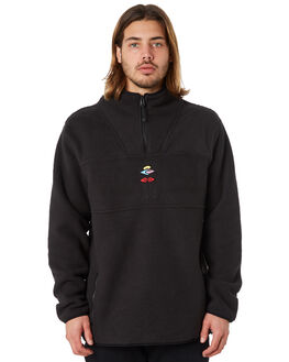 BLACK MENS CLOTHING RIP CURL JUMPERS - CFENL1BLK