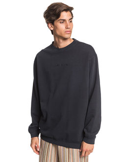 BLACK MENS CLOTHING QUIKSILVER JUMPERS - EQYFT04093-KVJ0