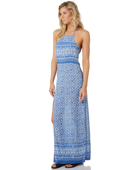 AMPARO BLUE WOMENS CLOTHING RUSTY DRESSES - DRL1015BLUE