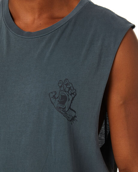 PIGMENT BLUE MIRAGE MENS CLOTHING SANTA CRUZ SINGLETS - SC-MTA0827PBM