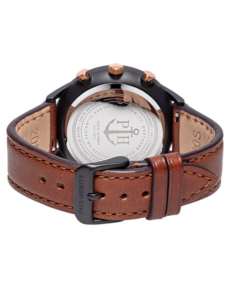BLACK ROSE GOLD BRN MENS ACCESSORIES PAUL HEWITT WATCHES - PH-C-B-BSR-1MBRGBS