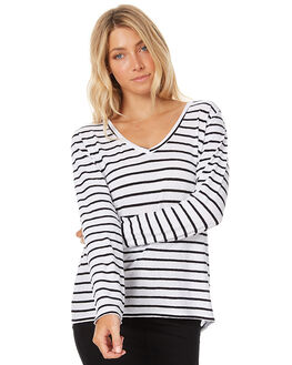 MALA STRIPE WOMENS CLOTHING ASSEMBLY TEES - AW-W21704MALS