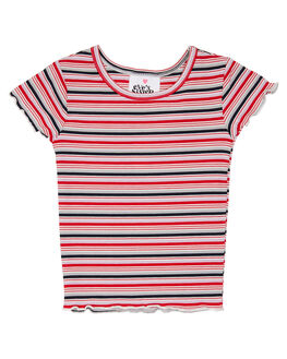 RED LILAC STRIPE KIDS GIRLS EVES SISTER TOPS - 8054001STR2