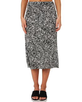 WHITE BLACK SNAKE WOMENS CLOTHING THE FIFTH LABEL SKIRTS - 40190963-1WTBKS