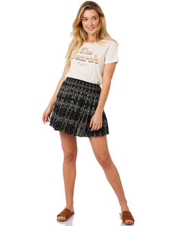 BLACK WOMENS CLOTHING RIP CURL SKIRTS - GSKCX10090