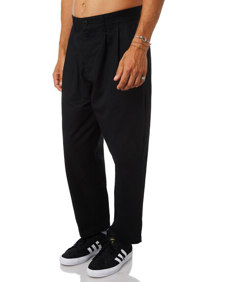BLACK MENS CLOTHING OBEY PANTS - 142020106BLK