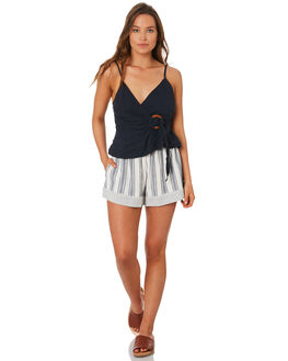 BLUE WOMENS CLOTHING TIGERLILY SHORTS - T392305BLUE