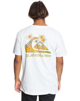 WHITE MENS CLOTHING QUIKSILVER TEES - EQYZT05845-WBB0