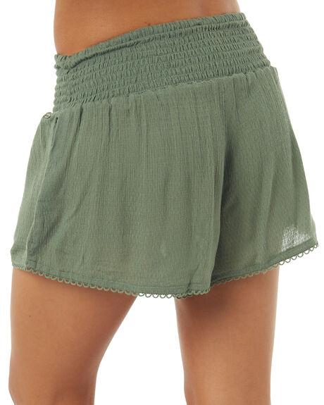 KHAKI WOMENS CLOTHING O'NEILL SHORTS - 4021702KHAK