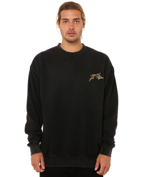 BLACK MENS CLOTHING RUSTY JUMPERS - FTM0775BLK