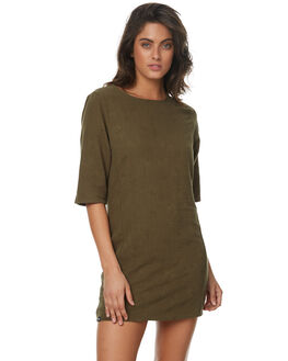 KHAKI WOMENS CLOTHING RPM DRESSES - 7PWD04BKHA