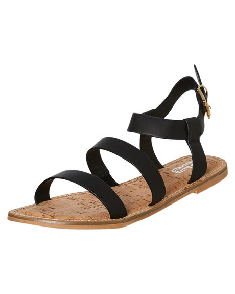 BLACK OUTLET WOMENS ROC BOOTS FASHION SANDALS - CASBAHBLK