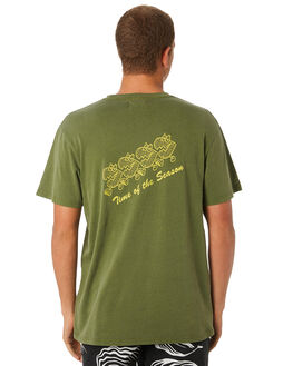 OLIVE MENS CLOTHING THE CRITICAL SLIDE SOCIETY TEES - TE18192OLV