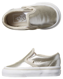 SILVER KIDS TODDLER GIRLS VANS FOOTWEAR - VN-02QJKX5SIL
