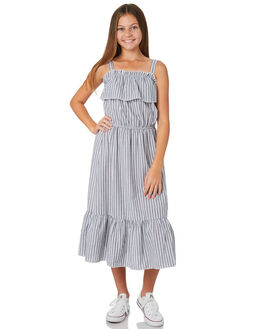 WHITE NAVY STRIPE KIDS GIRLS EVES SISTER DRESSES + PLAYSUITS - 9520028STR