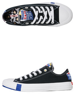 BLACK RED MENS FOOTWEAR CONVERSE SNEAKERS - 166738CBLK