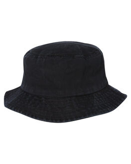 BLACK MENS ACCESSORIES BILLY BONES CLUB HEADWEAR - BBCHAT028BLK