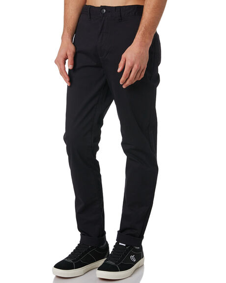 BLACK MENS CLOTHING GLOBE PANTS - GB01216010BLK