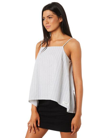 WHITE WOMENS CLOTHING ELEMENT FASHION TOPS - 284219WHT