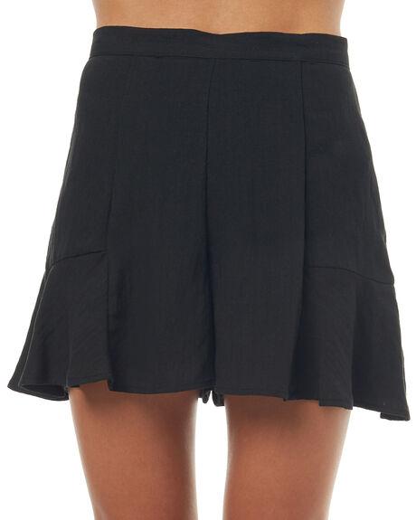 BLACK WOMENS CLOTHING MINKPINK SHORTS - MB1705430BLK