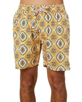 BOHO YELLOW MENS CLOTHING BARNEY COOLS BOARDSHORTS - 801-Q120BYEL