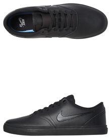 3fad4fa6b655 Nike Sb Check Solarsoft Leather Bts Shoe - Black Black