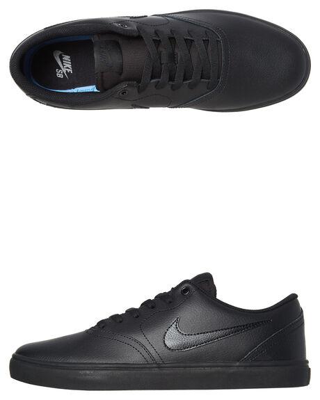 f2a0767d2c4cb Nike Sb Check Solarsoft Leather Bts Shoe - Black Black | SurfStitch