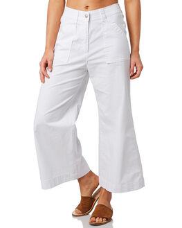 WHITE WOMENS CLOTHING ELWOOD PANTS - W91617-653