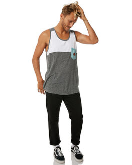 GREY HEATHER MENS CLOTHING IMPERIAL MOTION SINGLETS - 201702006011GRY