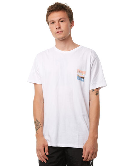 WHITE MENS CLOTHING BARNEY COOLS TEES - 128-CR1WHT