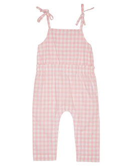 PINK GINGHAM KIDS GIRLS WALNUT DRESSES + PLAYSUITS - SP19GNGJMPPKGNG