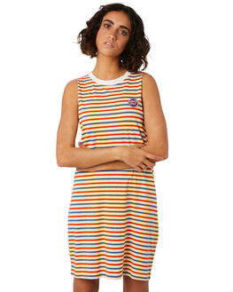RETRO STRIPE WOMENS CLOTHING SANTA CRUZ DRESSES - SC-WDD9985RSTP