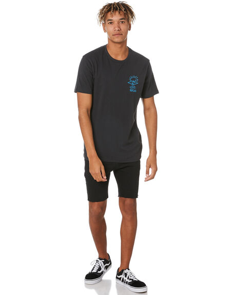 WASHED BLACK MENS CLOTHING RIP CURL TEES - CTEQS98264