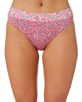 PINK WOMENS SWIMWEAR TIGERLILY BIKINI BOTTOMS - T392594PNK
