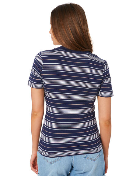 NAVY PINK OUTLET WOMENS LEE TEES - L-651878-FW6NVYPK