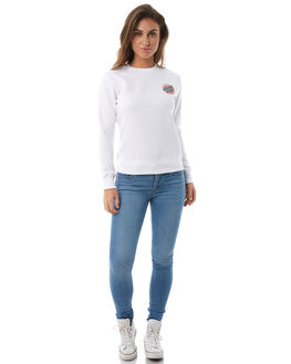 WHITE WOMENS CLOTHING SANTA CRUZ JUMPERS - SC-WFA8536WHT
