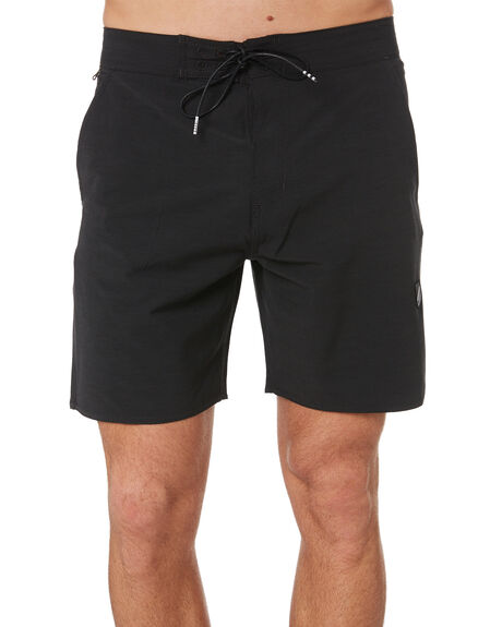 BLACK MENS CLOTHING STACEY SHORTS - STBSCREWBLKBLK