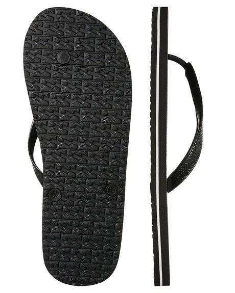 BLACK MENS FOOTWEAR BILLABONG THONGS - 9685933BLK