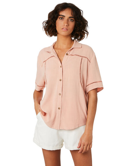 PEACH WOMENS CLOTHING THE HIDDEN WAY FASHION TOPS - H8201008PEAC