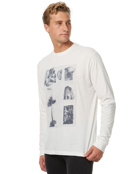ANTIQUE WHITE OUTLET MENS RVCA TEES - R371093AWHT
