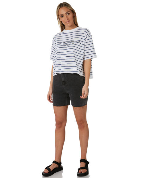 STRIPED WOMENS CLOTHING STUSSY TEES - ST193002STRP