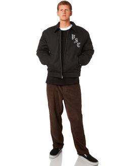 BLACK MENS CLOTHING POLAR SKATE CO. JACKETS - PSCRITUALSBLK
