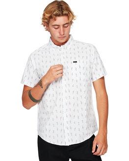 WHITE MENS CLOTHING RVCA SHIRTS - RV-R391194-WHT