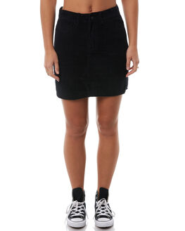 BLACK WOMENS CLOTHING SANTA CRUZ SKIRTS - SC-WDA8575BLK