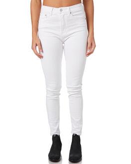 WHITE CHOP WOMENS CLOTHING ZIGGY JEANS - ZW-1009WHTC