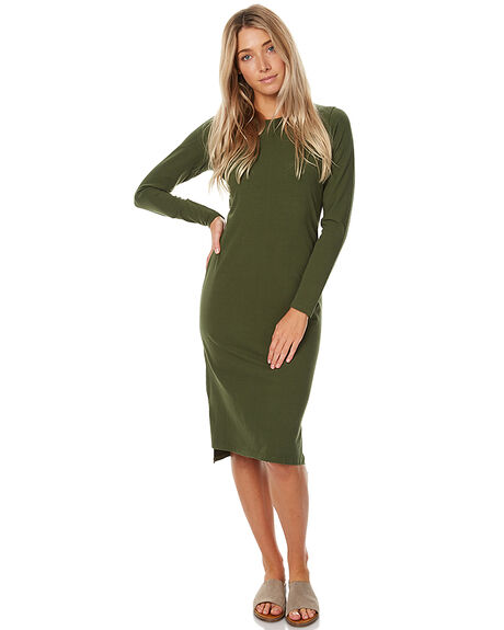 OLIVE WOMENS CLOTHING SWELL DRESSES - S8172477OLV