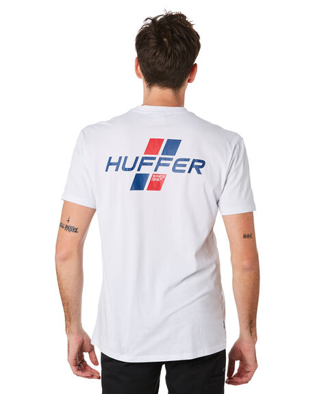 WHITE MENS CLOTHING HUFFER TEES - MTE93S40191WHT
